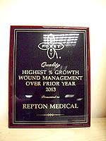 Award Poseys Highest Growth for Wound Management 2013