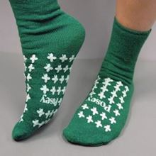 Picture of Green Slipper Socks (Large) Premium