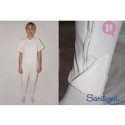 Picture of Incontinence Pyjama Long Pants/Short Sleeves (White)