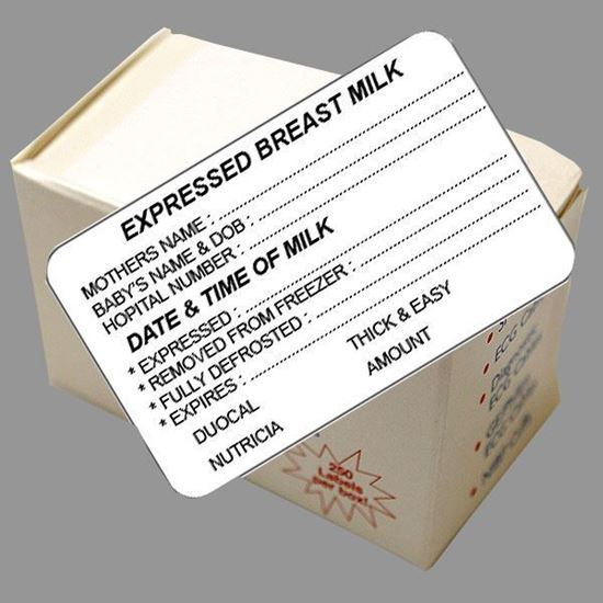 Picture of Express Breast Milk Labels (Thick & Easy Amount)