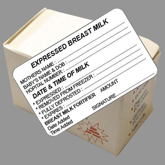 Picture of Express Breast Milk Labels (Signature)